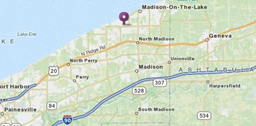 Madison Country Club map